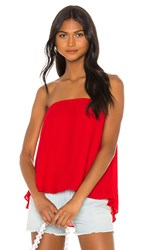 Krisa Split Back Strapless Top In Red. Starlet