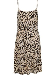 Equipment Animal Print Dress Nude And Neutrals