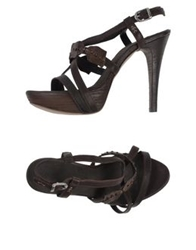Henry Beguelin Sandals Dark Brown