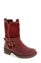 Bos. And Co. Women's 'Sahara' Buckle Strap Waterproof Bootie Red Scarlett Mountain Leather