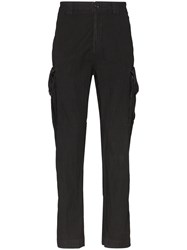 C.P. Company Cp Garment Dyed Cargo Trousers Black