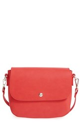 Bp. Minimal Faux Leather Crossbody Bag Red