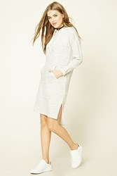 Forever 21 Hooded Sweater Dress Heather Grey