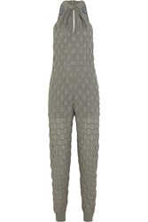 M Missoni Metallic Crochet Knit Jumpsuit