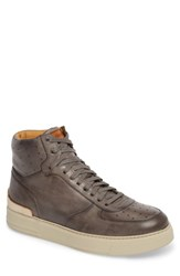 Magnanni Varro Hi Top Lace Up Sneaker Grey Grey Leather