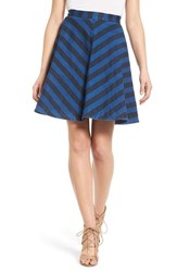 Women's Plenty By Tracy Reese Stripe Denim Circle Skirt