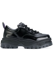 Eytys Platform Lace Up Sneakers Black