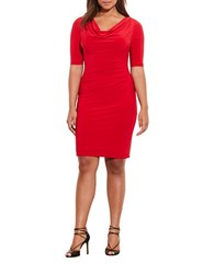 Lauren Ralph Lauren Plus Carleton Cowlneck Jersey Dress