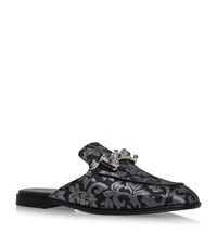 Tod's Baroque Jacquard Mules Female Silver