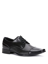 Calvin Klein Bram Diamond Leather Oxfords Black