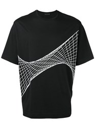 Diesel Black Gold Net Print T Shirt Black