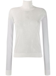 Maison Martin Margiela Turtle Neck Fitted Jumper White