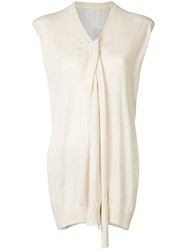 Uma Wang Tie Neck Blouse Nude And Neutrals