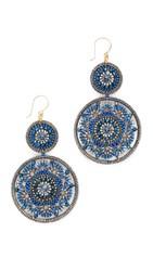 Miguel Ases Leslie Earrings Blue Gold