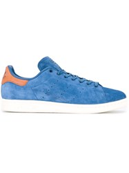 Adidas Originals Stan Smith Sneakers Unisex Leather Suede Polyester Rubber 9 Blue