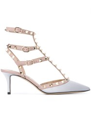 Valentino 'Rockstud' Pumps Pink Purple