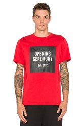Opening Ceremony Ss Logo Tee Red