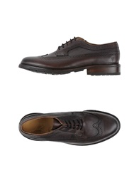 Frye Lace Up Shoes Dark Brown