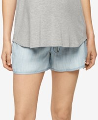 A Pea In The Pod Maternity Chambray Shorts Washed Chambray