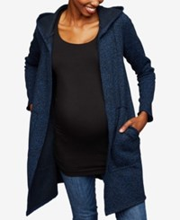 A Pea In The Pod Maternity Open Front Jacket Navy Black Marl