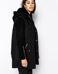 Eleven Paris Fobias Hooded Parka With Rose Gold Fastenings