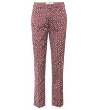 Etro Floral Printed Trousers Pink