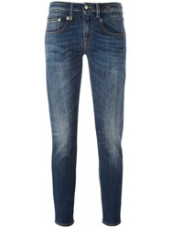 R 13 R13 Bootcut Cropped Jeans Blue