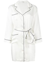 P.A.R.O.S.H. Belted Shirt Dress White