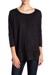 Wild Pearl Boxy French Terry Pullover Black