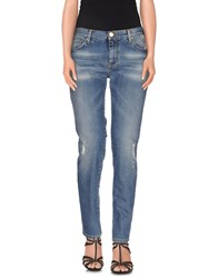 Pinko Tag Denim Denim Trousers Women Blue