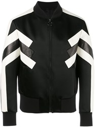 Neil Barrett Geometric Bomber Jacket Black