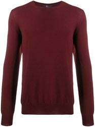 Fay Crew Neck Sweater Red