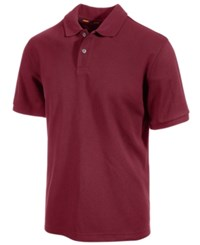 Club Room Big And Tall Performance Uv Protection Men's Polo Shirt Clay Red