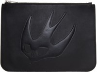 Mcq By Alexander Mcqueen Black Large Swallow Pouch