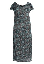 Evans Aztec Maxi Dress Multi Dark Multicoloured
