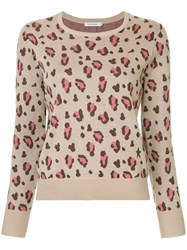 Guild Prime Leopard Print Sweater Nude And Neutrals