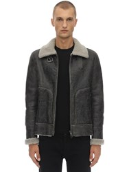 Salvatore Santoro Leather Jacket W Shearling Lining Black