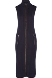 Acne Studios Benita Ribbed Wool Midi Dress Blue
