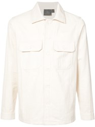 Naked And Famous Military Style Shirt White