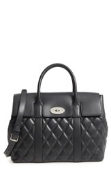 Mulberry Bayswater Quilted Calfskin Leather Satchel Black