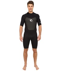 Rip Curl Omega Short Sleeve Spring Suit Black Men's Wetsuits One Piece