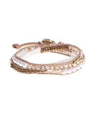 Lonna And Lilly Beaded Wrap Bracelet Beige