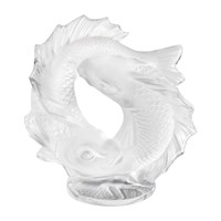Lalique Double Fish Sculpture Small Clear