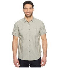 Royal Robbins Vista Dry Short Sleeve Shirt Fiddlehead Short Sleeve Button Up Gray