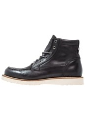 Jack And Jones Jfwlogger Laceup Boots Black