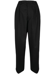 Dondup Cropped Paper Bag Trousers Black