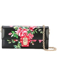 Dolce And Gabbana Lucia Floral Crossbody Bag Women Calf Leather One Size Black