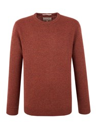 Racing Green Shelley Lambswool Blend Crew Neck Knit Orange