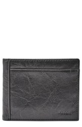 Fossil Leather Wallet Black