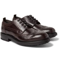 Dunhill Traction Leather Wingtip Brogues Merlot